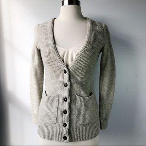 Madewell Heather Gray Merino Wool Cardigan